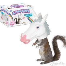 Unicorn Squirrel Feeder - Einhorn Futterstelle
