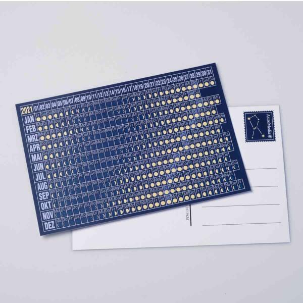 Postkarte Mondkalender 2021