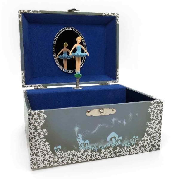 Musikschmuckdose Ballerina, blau