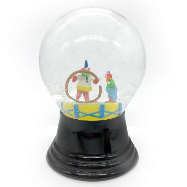 Schneekugel Zirkus Clowns