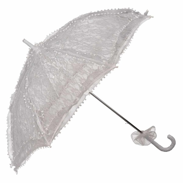 Schirm Spitze Weiß