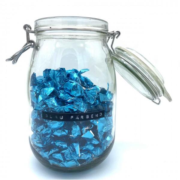 Blaufärbendes Bonbon
