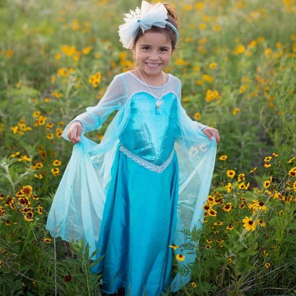 Kristall Königin kleid Blau (5- 6 Jahre)