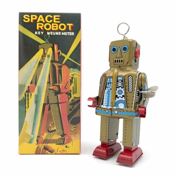 Space Robot mit Feuerstein Groß