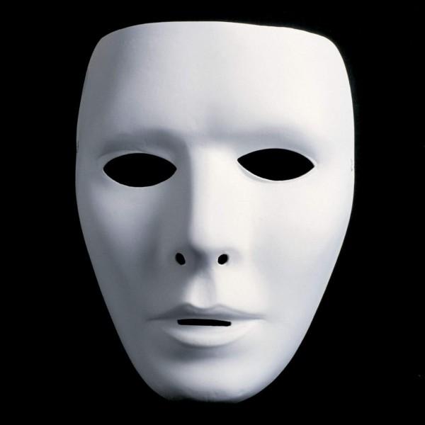 Maske weiß männlich