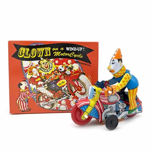 Blech Clown auf Motorad