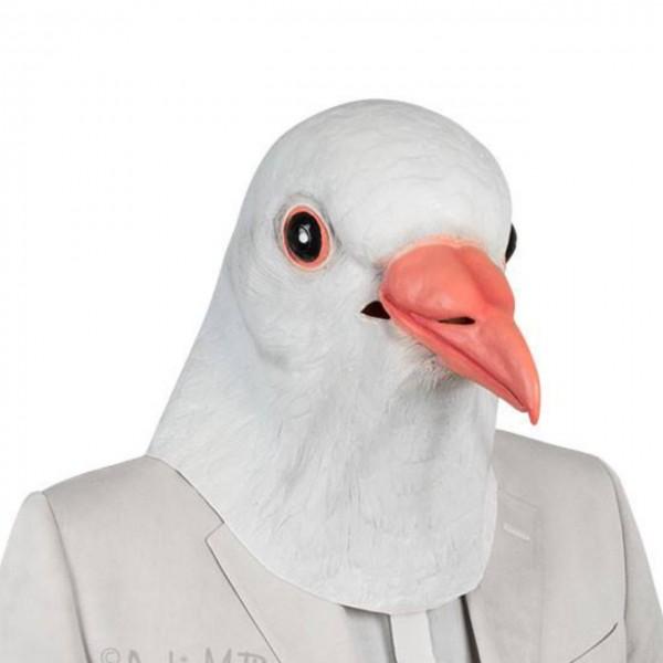 Latexmaske weiße Taube
