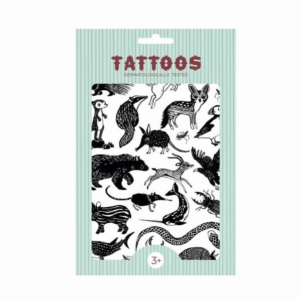 Tattoos Tiere Schwarz / Weiß