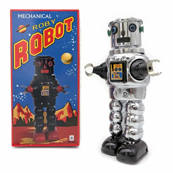 Roby Robot - silber chrom