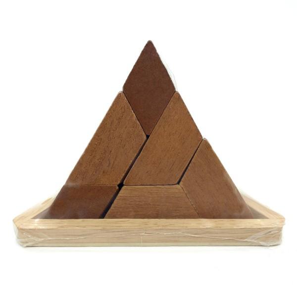 Holzpyramide 5-teiliges Puzzle