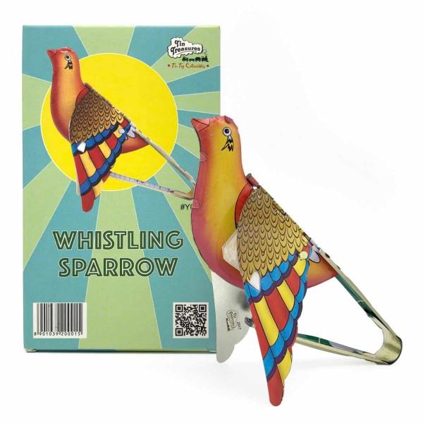 Quietschender Vogel - Whistling Sparrow